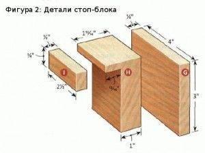 стоп-блок для заготовки