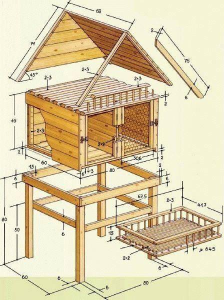 Как построить сарай своими руками для кроликов