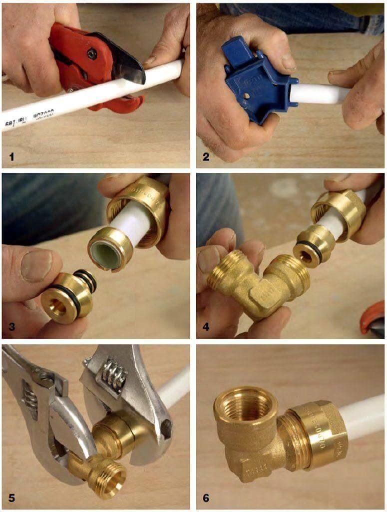 Металлопластиковые трубы установка своими руками