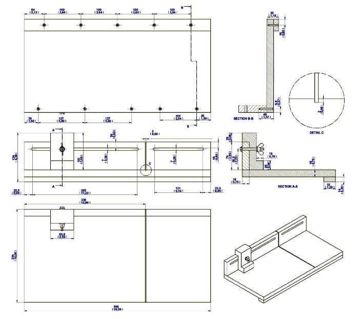 Циркулярный стол своими руками чертеж 239