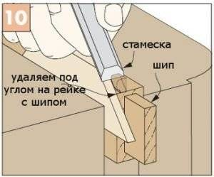 рейками на которых расположены шипы
