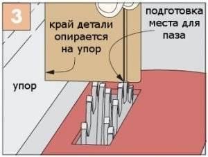 Определите ширину паза
